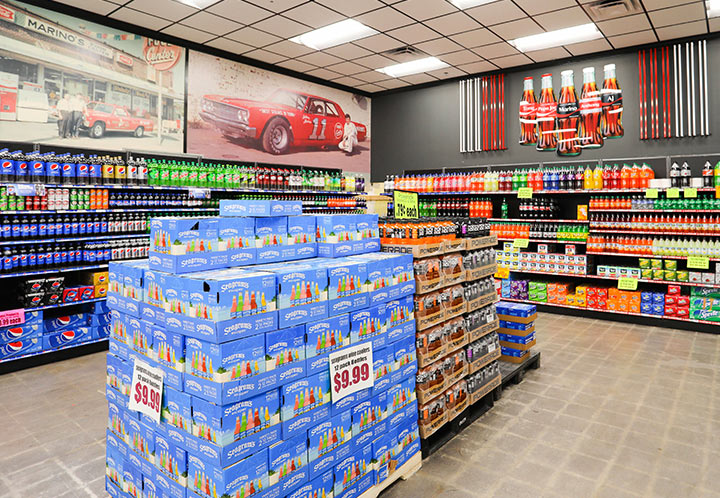 Beverage section of the Marino's Market