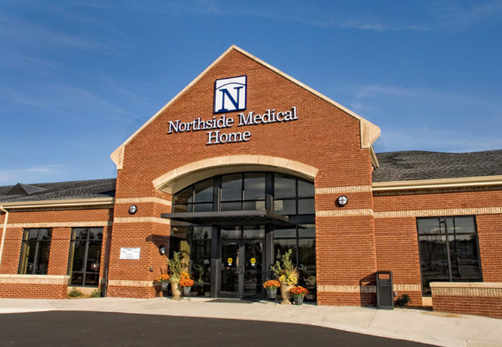 Closeup of entrance to Northside Medical Home building