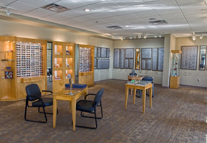 interior detail of optometrist's office from Northside Medical Associates building