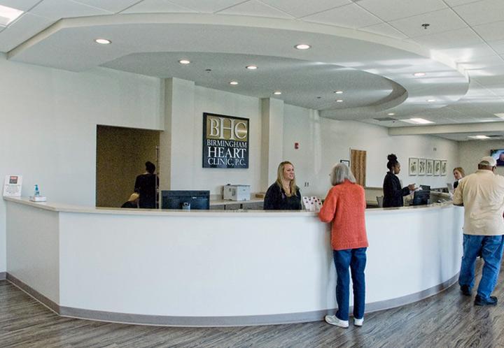 interior detail of Birmingham Heart Clinic in Northside Medical Associates building Heart