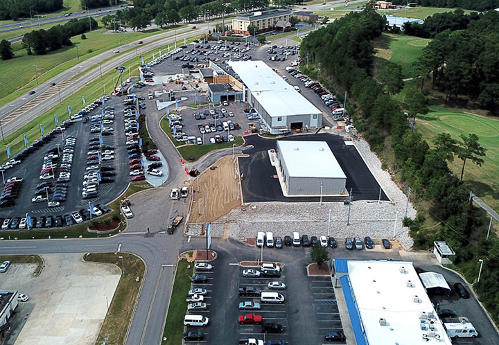 Exterior Aerial of Quick Lane Auto Service