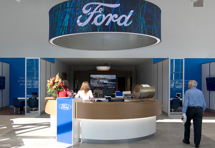 interior lobby of Town & Country Ford