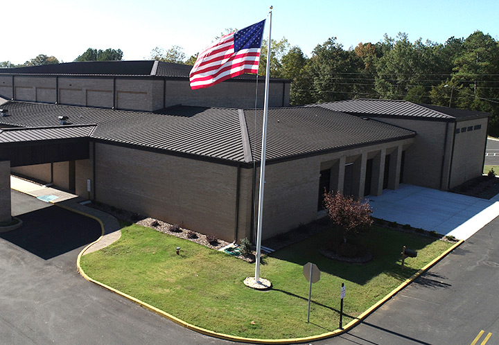 Exterior aerial at the Pell City Civic Center
